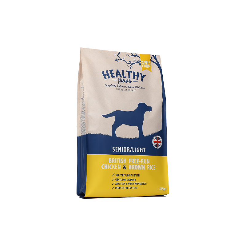 Healthy Paws British Free-Run Chicken and Brown Rice Senior/Light