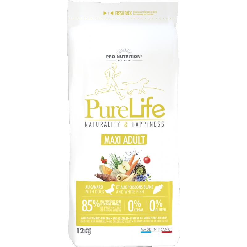 Pure Life Maxi Adult Pardiliha ja Valge Kalaga 12kg